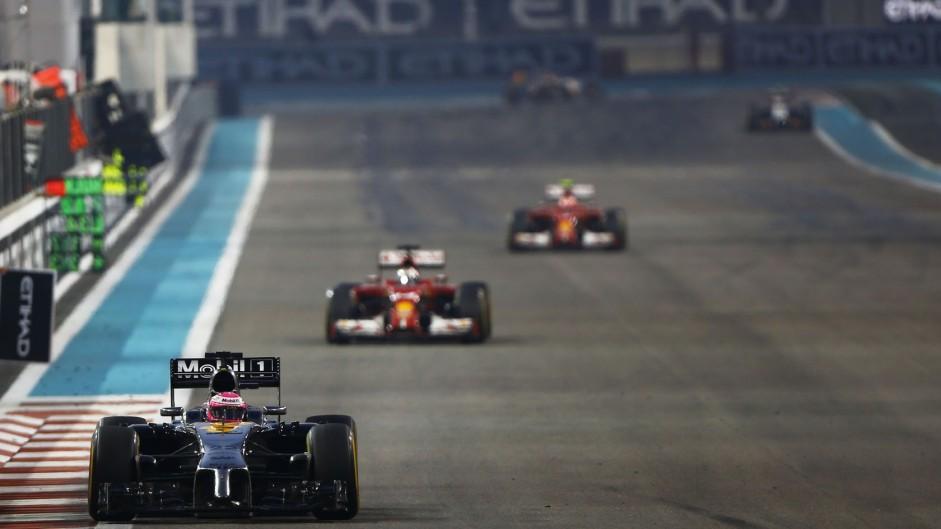 Jenson Button, McLaren, Yas Marina, 2014