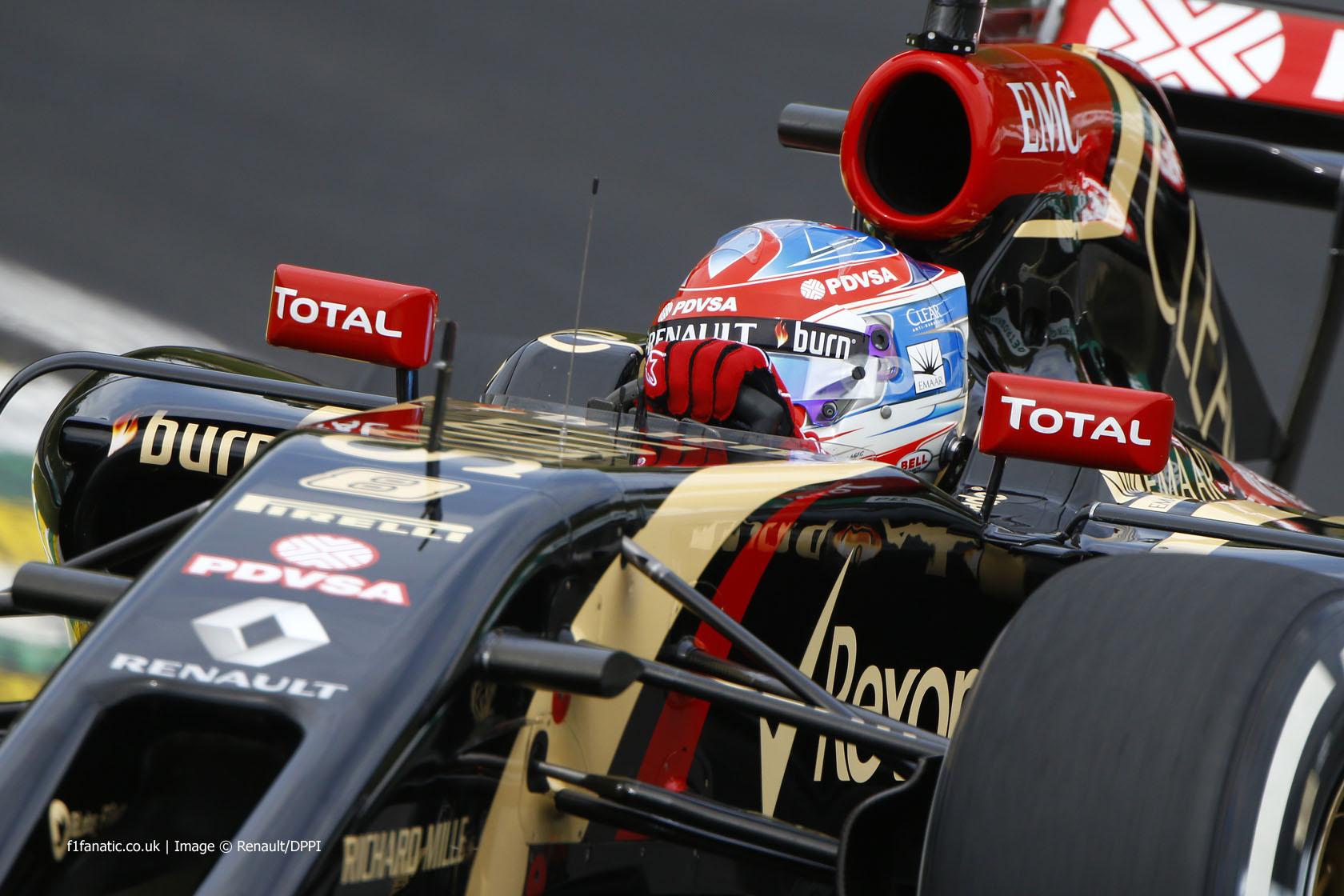 Romain Grosjean, Lotus, Interlagos, 2014