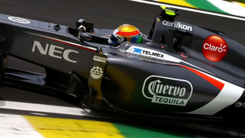 Esteban Gutierrez, Sauber, Interlagos, 2014