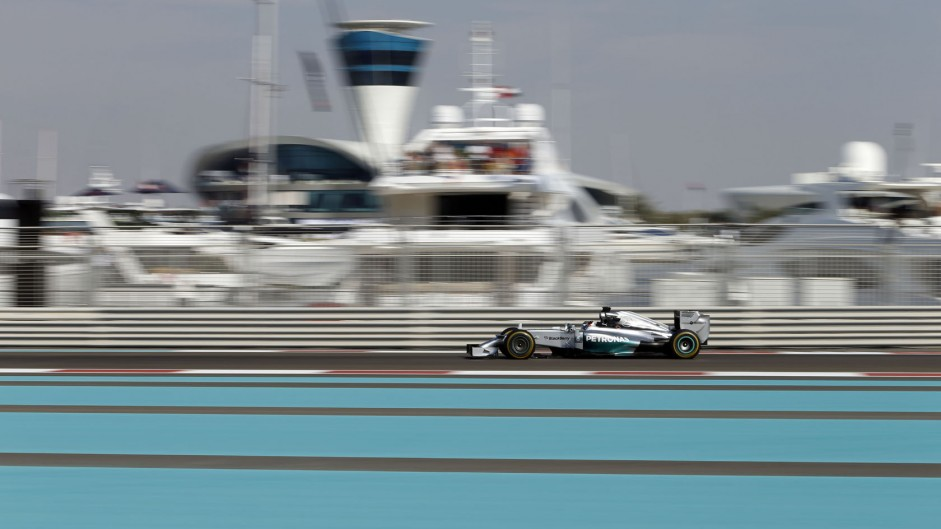 Hamilton stays ahead in practice at Yas Marina