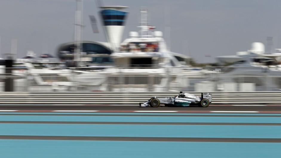 Hamilton stays ahead in practice at Yas Marina