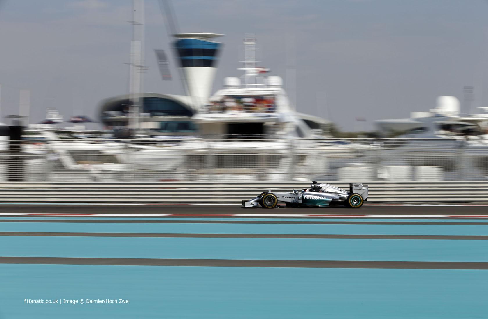 Lewis Hamilton, Mercedes, Yas Marina, 2014