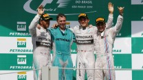 Lewis Hamilton, Nico Rosberg, Felipe Massa, Interlagos, 2014