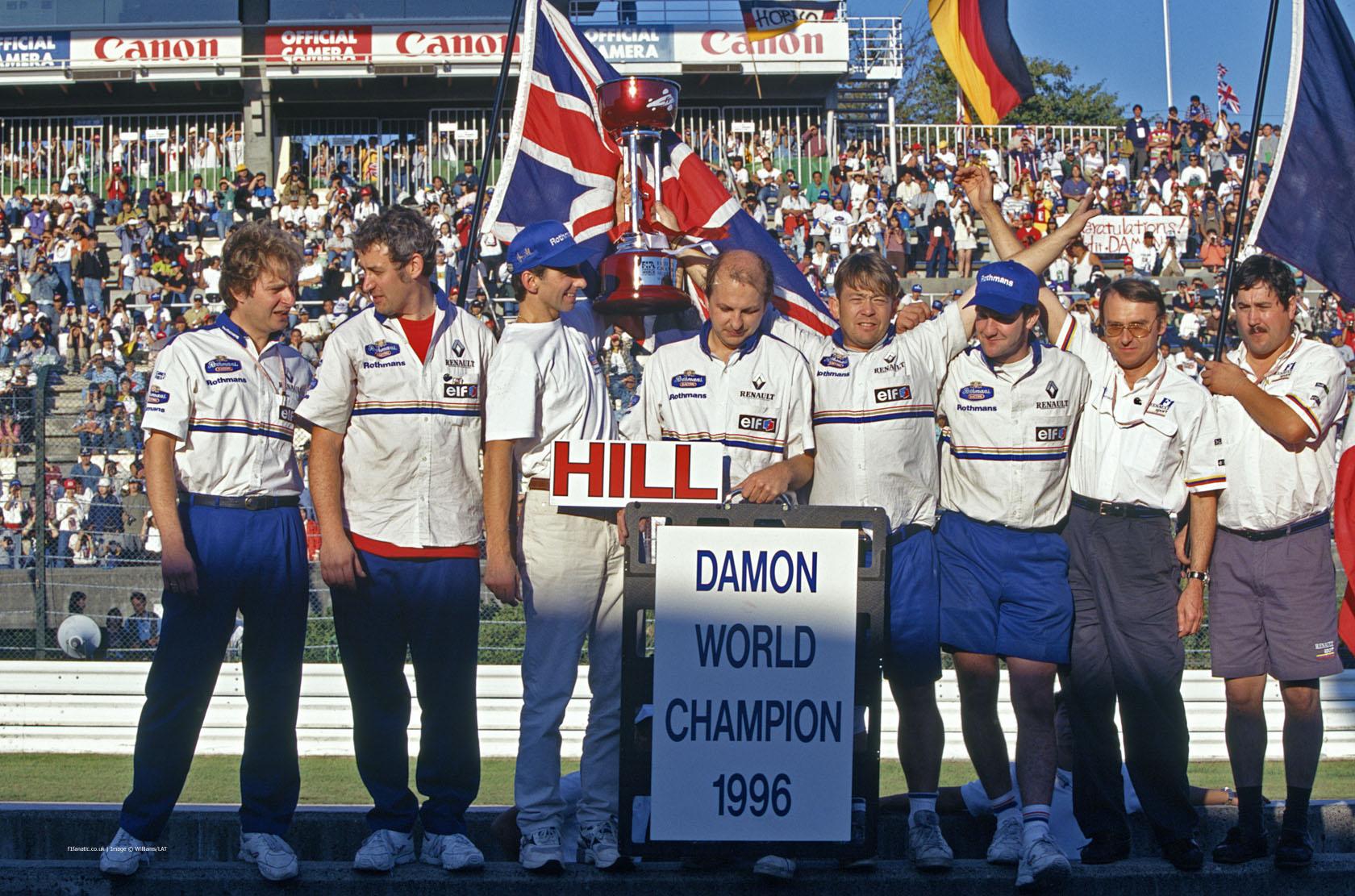 Damon Hill, Williams, Suzuka, 1996