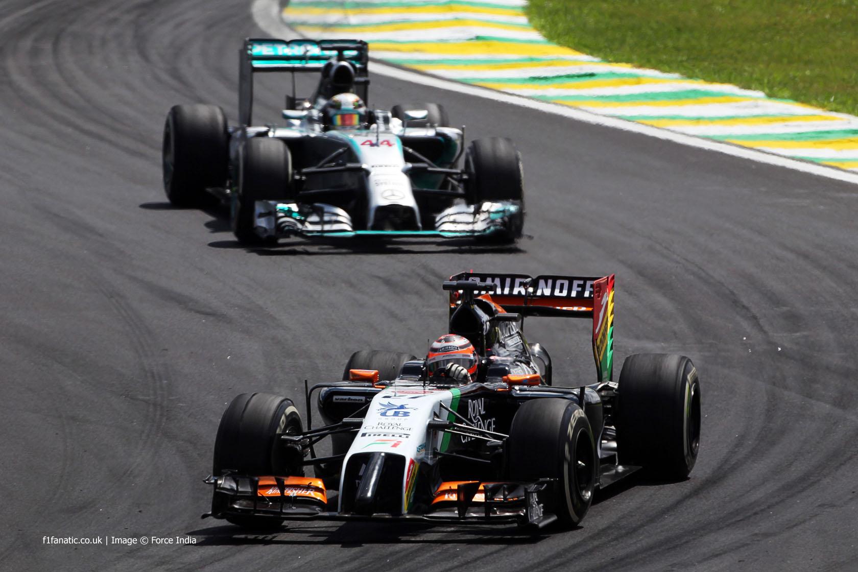 Nico Hulkenberg, Force India, Interlagos, 2014
