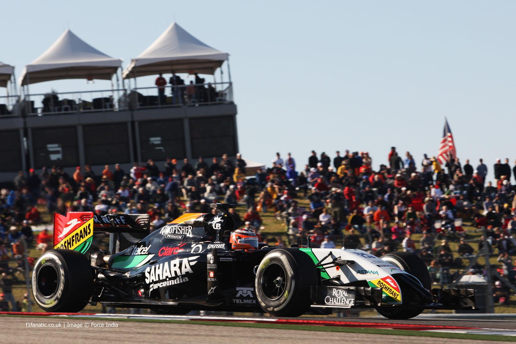 Nico Hulkenberg, Force India, Circuit of the Americas, 2014