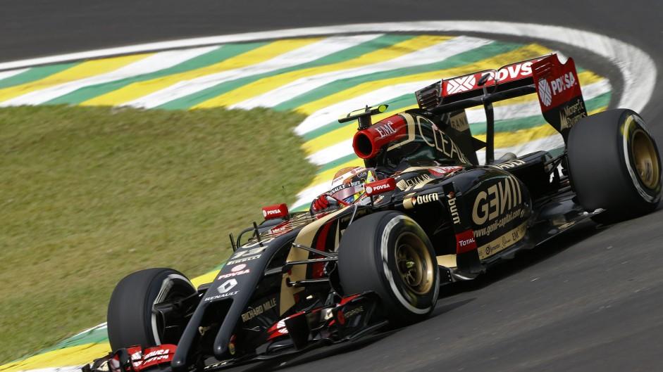 Pastor Maldonado, Lotus, Interlagos, 2014