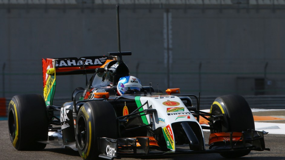 Jolyon Palmer, Force India, Yas Marina, 2014