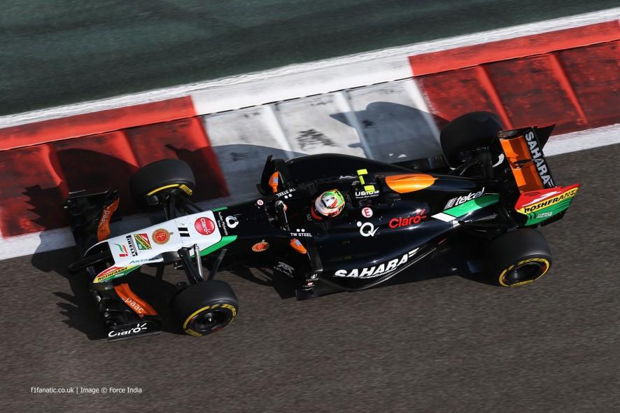 Sergio Perez, Force India, Yas Marina, 2014