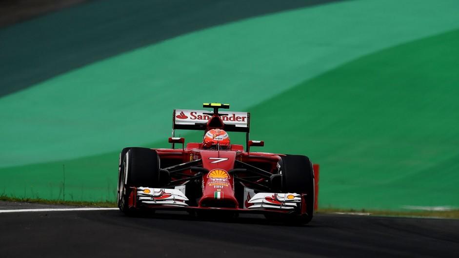 Kimi Raikkonen, Ferrari, Interlagos, 2014