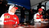 Kimi Raikkonen, Fernando Alonso, Suzuka, 2014