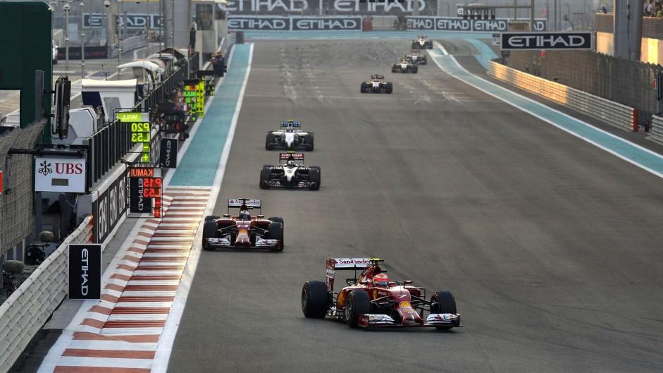 Kimi Raikkonen, Ferrari, Yas Marina, 2014