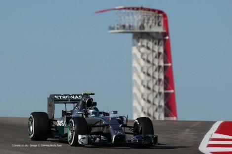 Nico Rosberg, Mercedes, Circuit of the Americas, 2014
