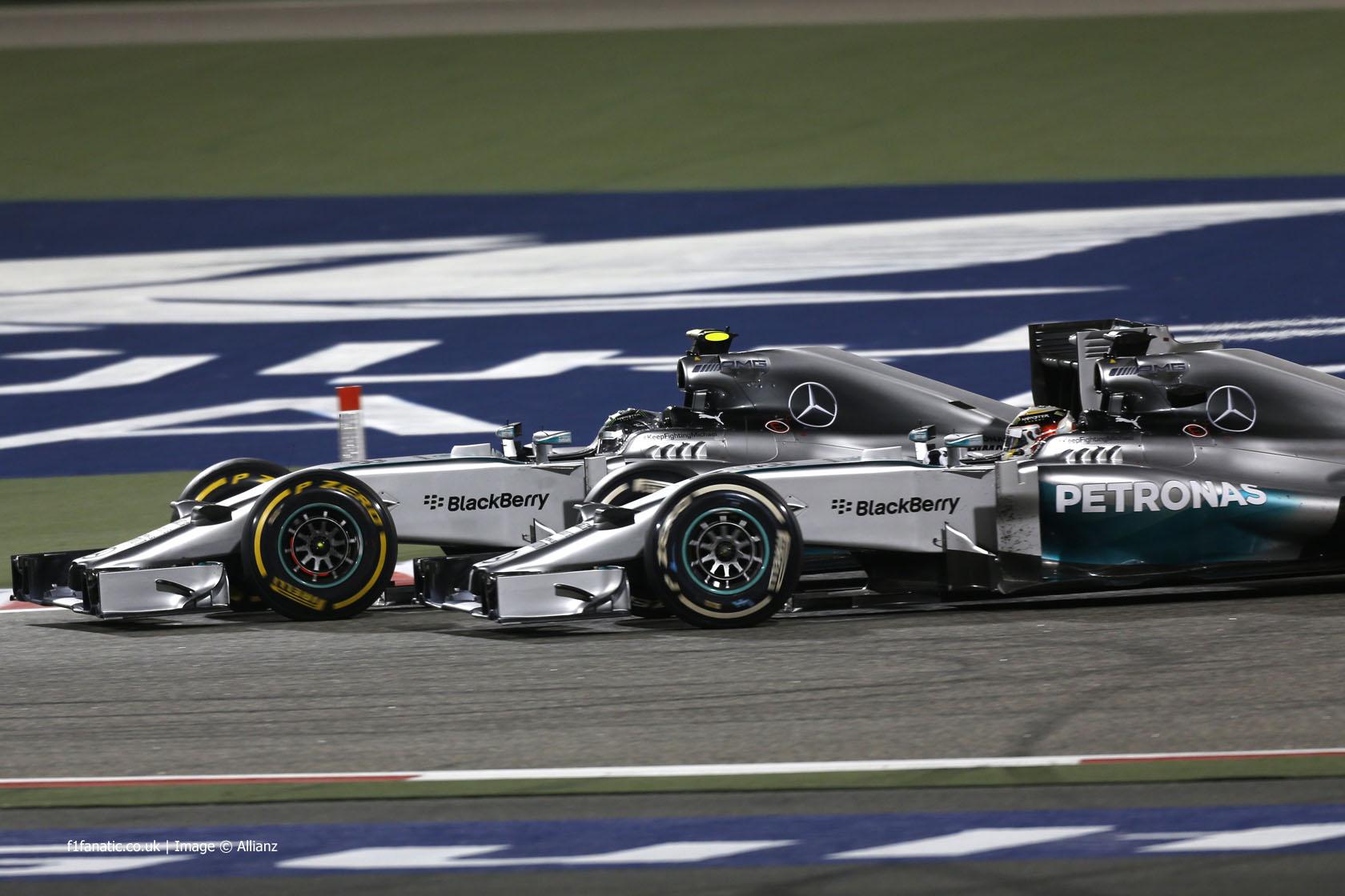 Nico Rosberg, Lewis Hamilton, Mercedes, Bahrain, 2014