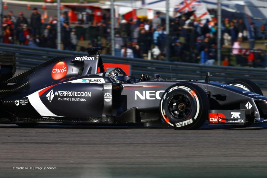 Adrian Sutil, Sauber, Circuit of the Americas, 2014