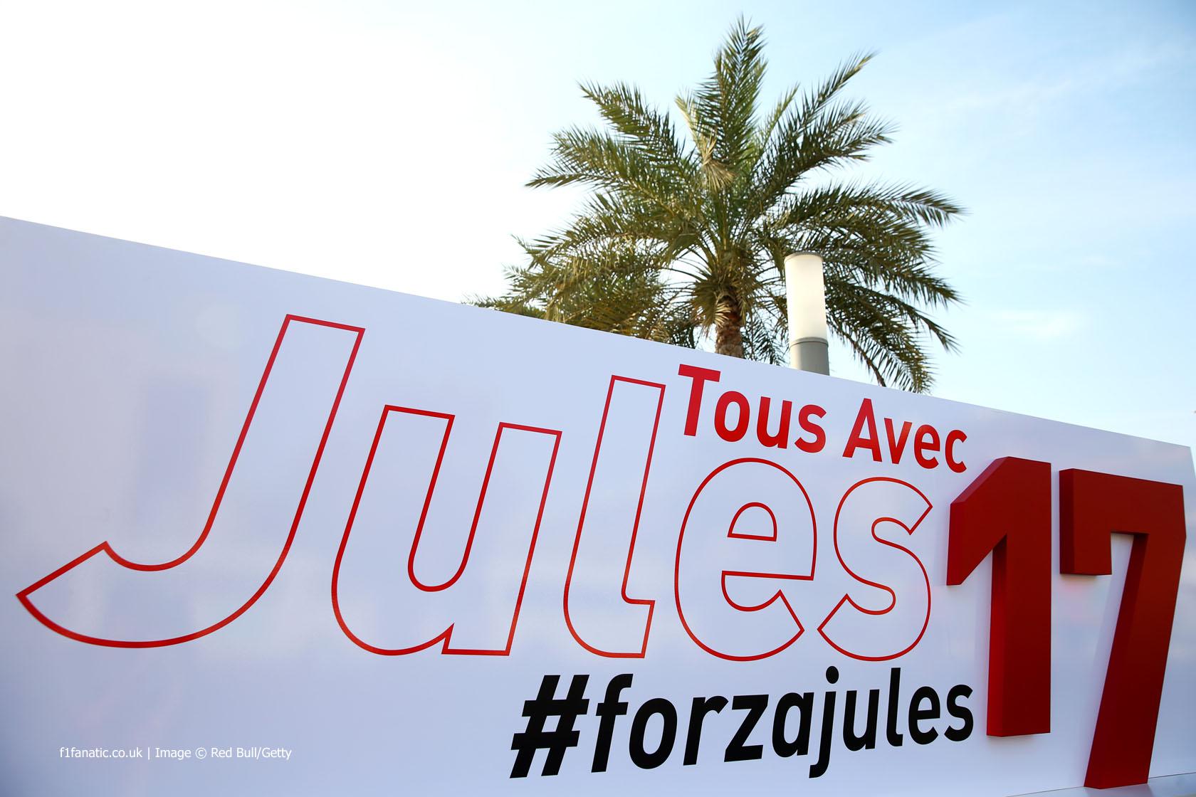 Jules Bianchi tribute, Yas Marina, 2014