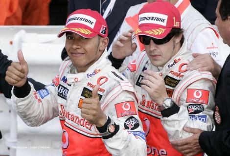 Lewis Hamilton, Fernando Alonso, McLaren, Monte-Carlo, Monaco, 2007