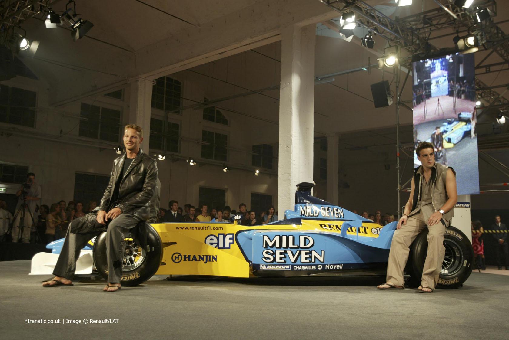 Jenson Button, Fernando Alonso, Renault, 2002