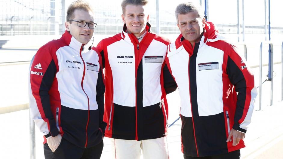 Andreas Seidl, Nico Hulkenberg, Alexander Hitzinger, Porsche, Motorland Aragon, 2014
