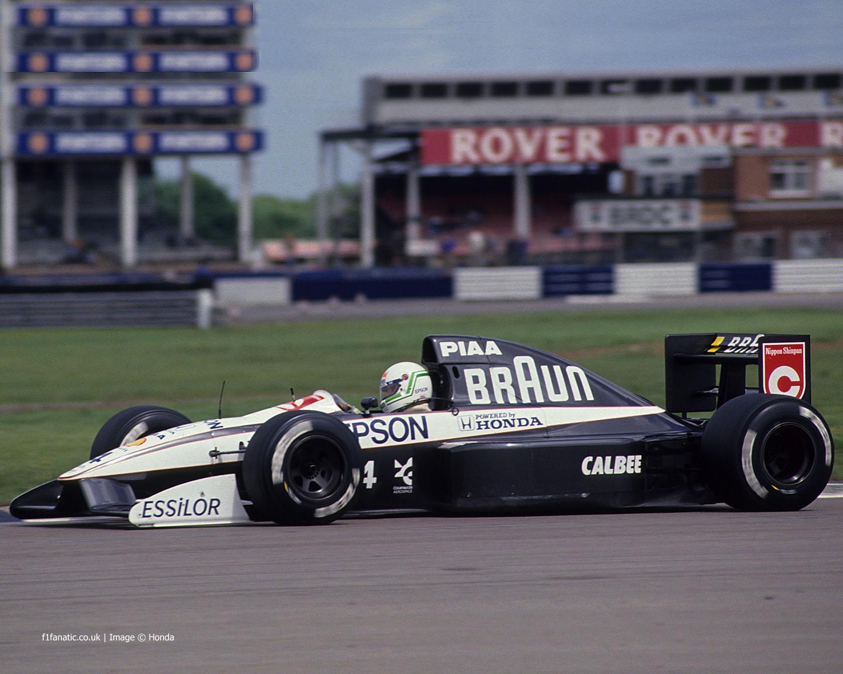 Stefano Modena, Tyrrell-Honda 020, Silverstone, 1991