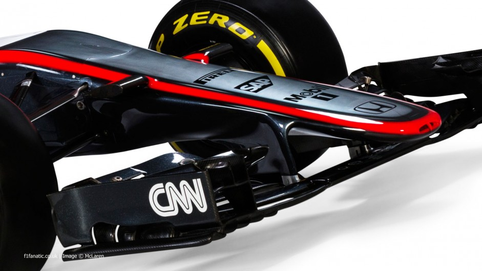 McLaren MP4-30 nose, 2015
