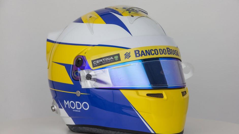 Marcus Ericsson helmet, Sauber, 2015