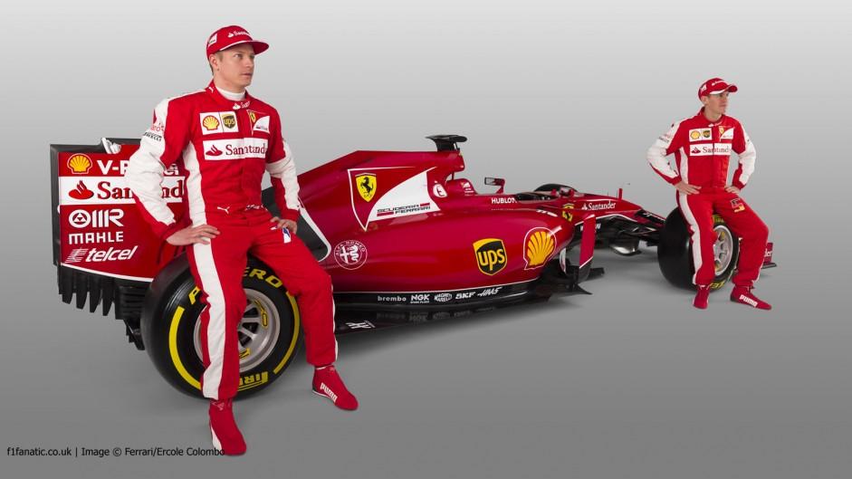 Kimi Raikkonen, Sebastian Vettel, Ferrari SF-15T, 2015