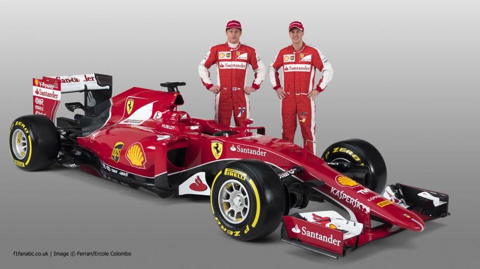 Sebastian Vettel, Kimi Raikkonen, Ferrari SF-15T, 2015
