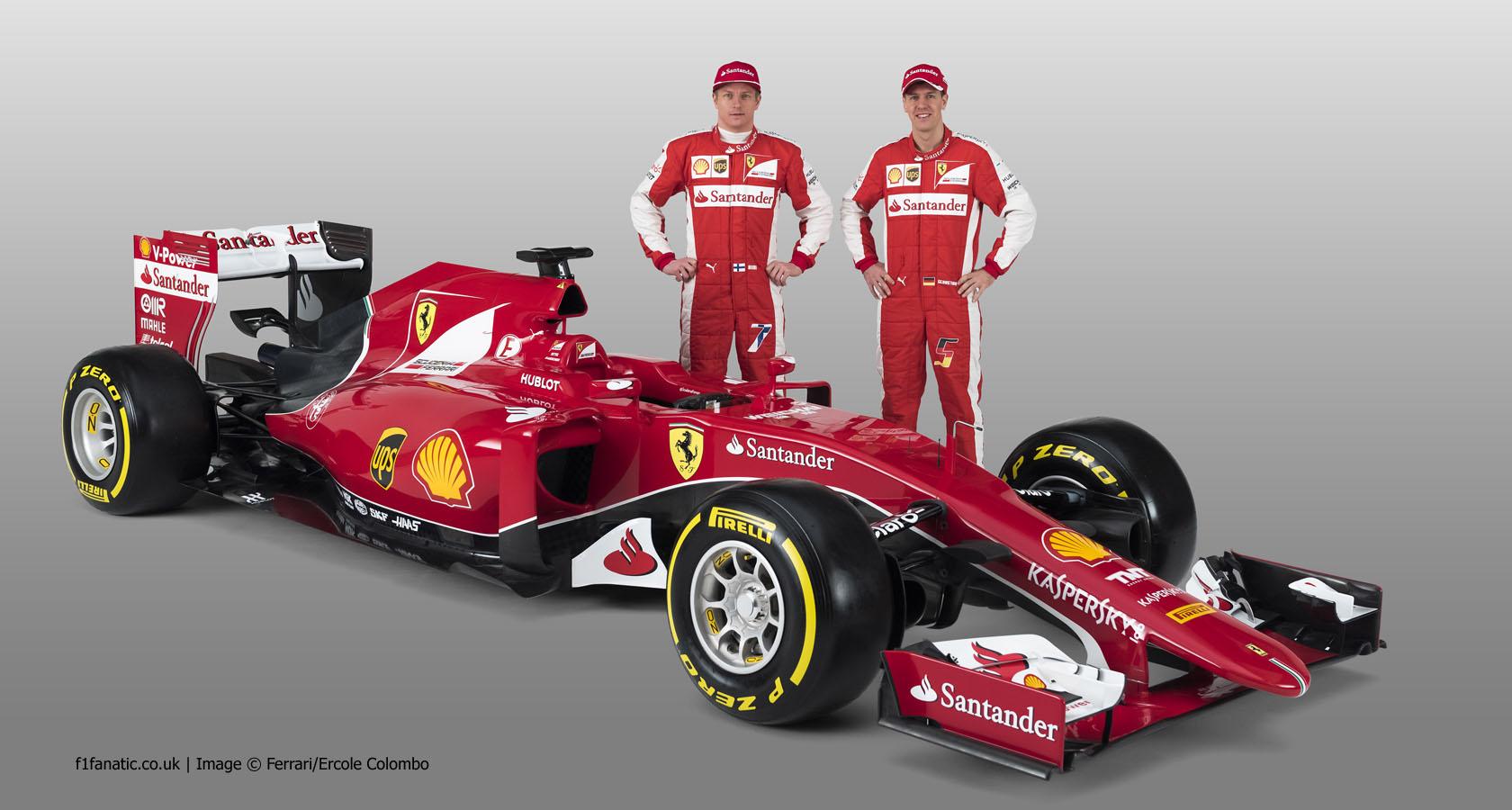 Sebastian Vettel Kimi Raikkonen Ferrari Sf 15t 2015