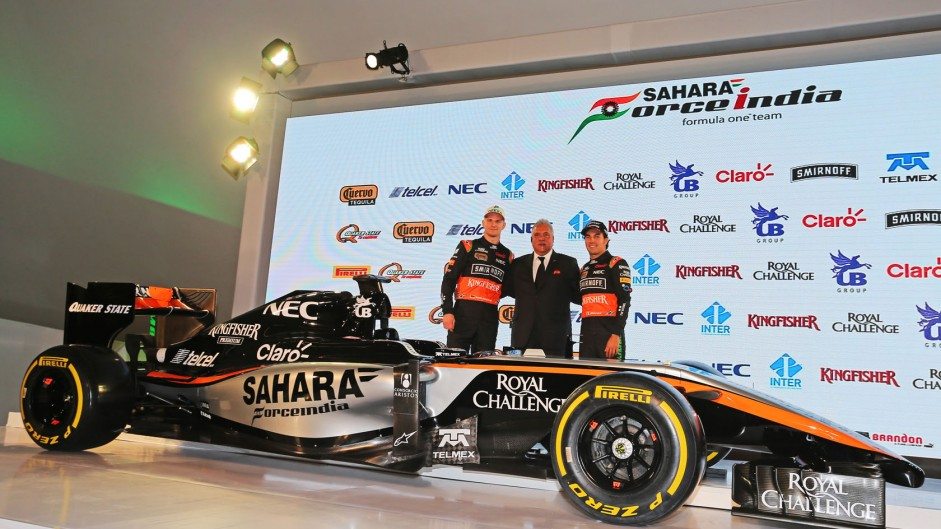 Force India reveal new livery for 2015 VJM08