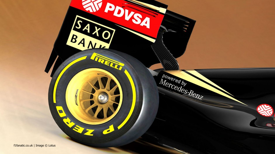 Lotus E23 engine cover rendering, 2015