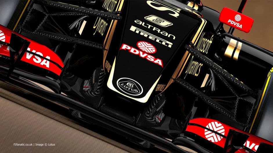 Lotus E23 nose rendering, 2015