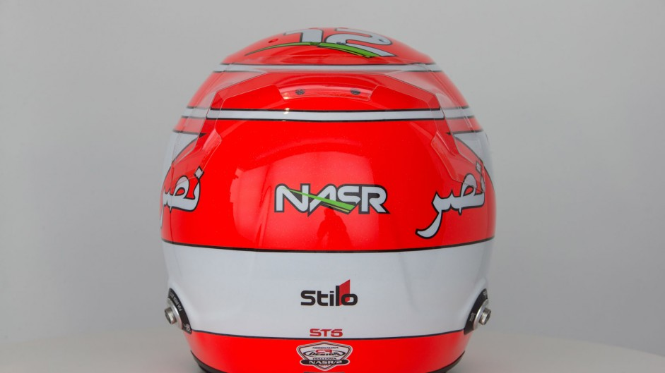 Felipe Nasr helmet, Sauber, 2015