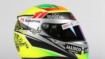 Sergio Perez helmet, 2015