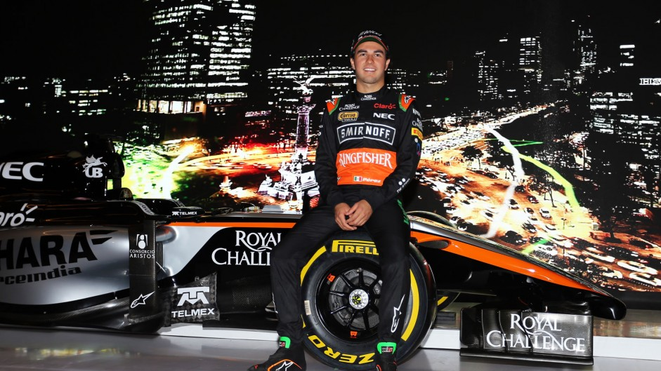 Sergio Perez, Force India 2015 livery launch
