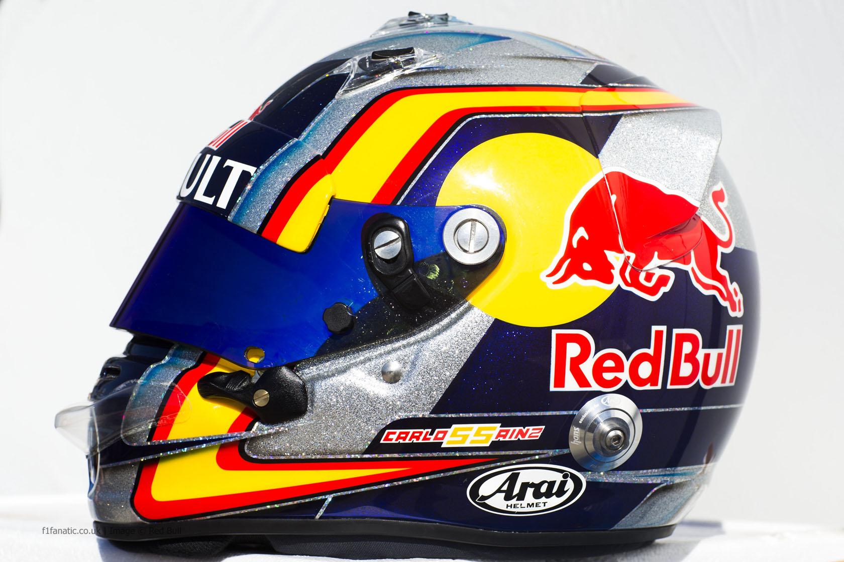Carlos Sainz Jnr helmet, Toro Rosso, 2015 · F1 Fanatic