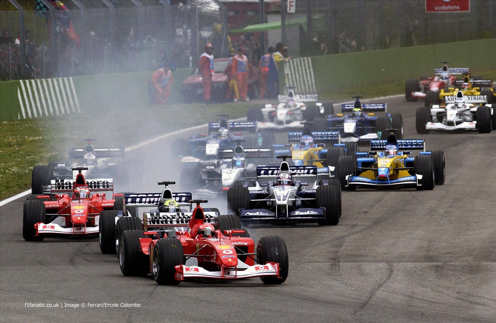 Michael Schumacher, Ferrari, Imola, 2002 · F1 Fanatic