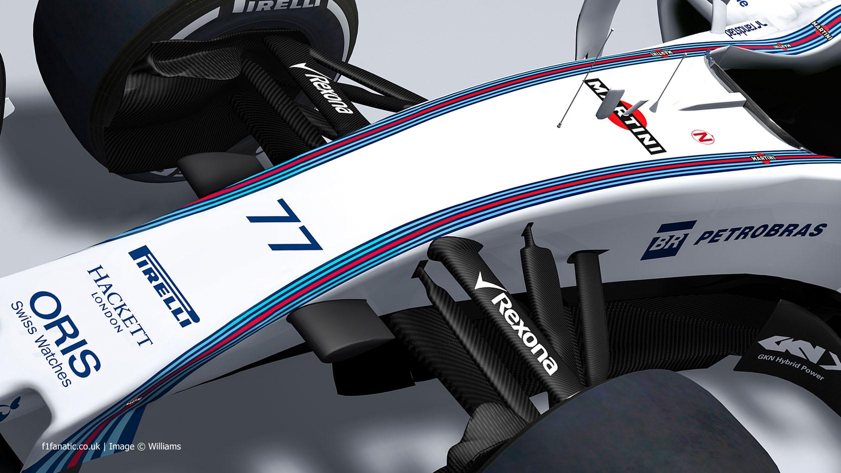 Williams FW37 rendering, 2015