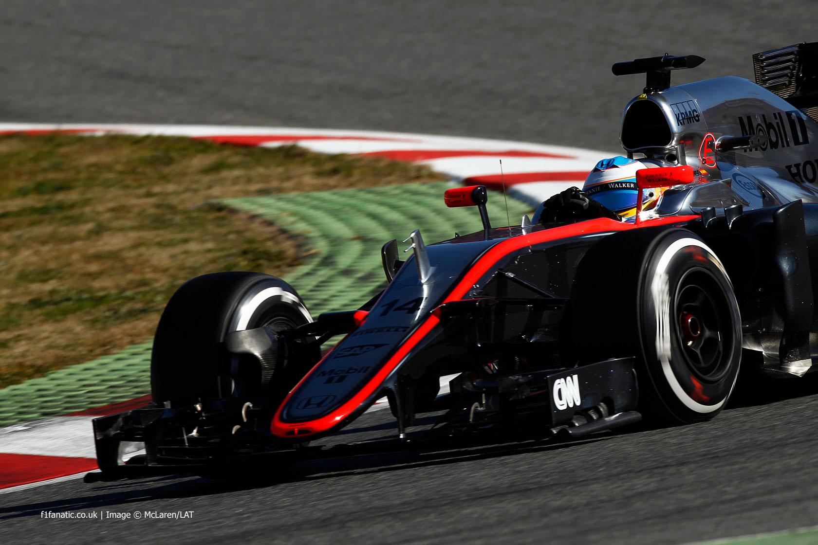 Fernando Alonso, McLaren, Circuit de Catalunya, 2015
