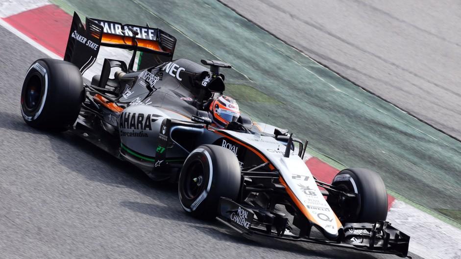 Force India VJM08 breaks cover at Barcelona