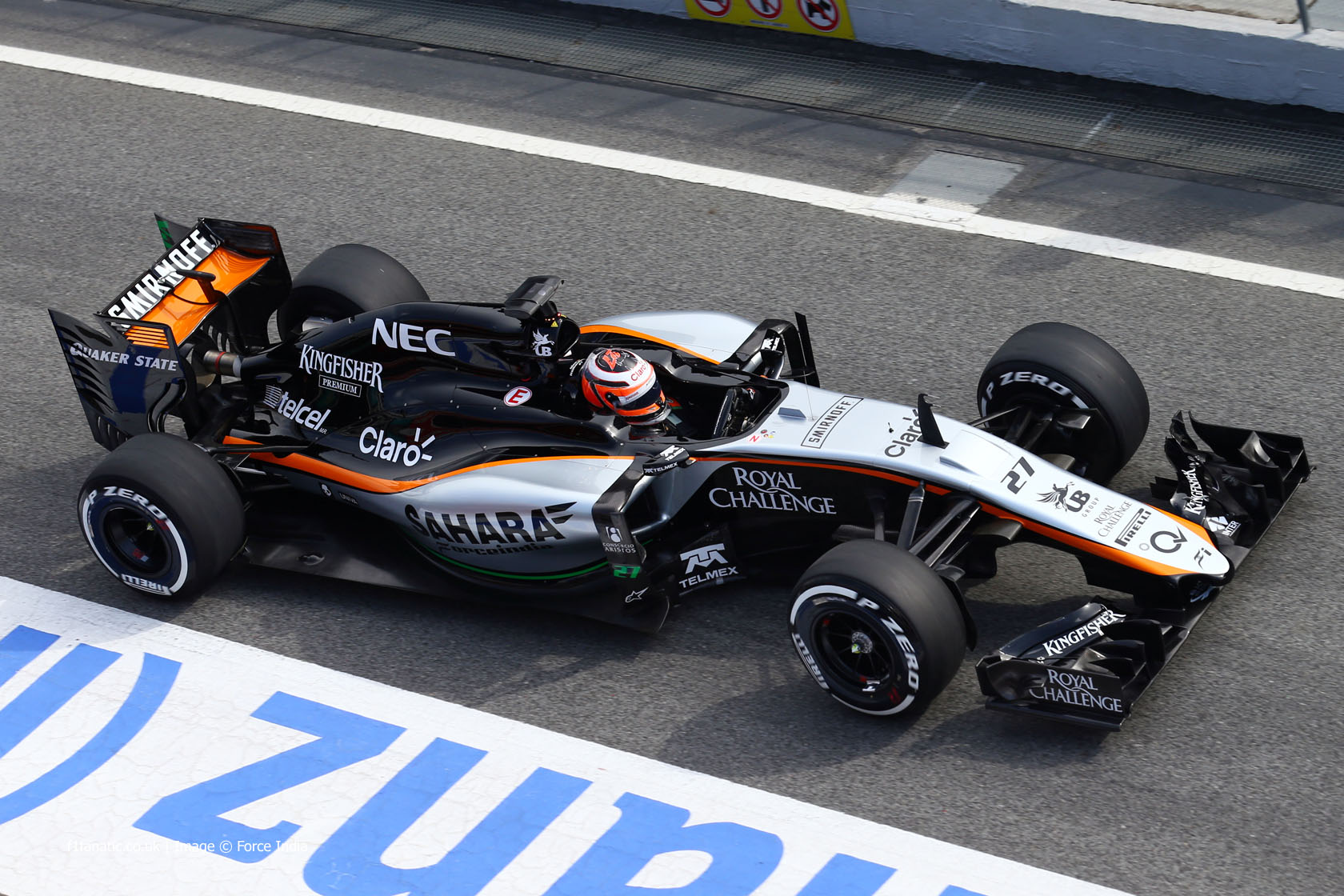 nico hulkenberg force india circuit de catalunya 2015 f1 fanatic. Black Bedroom Furniture Sets. Home Design Ideas