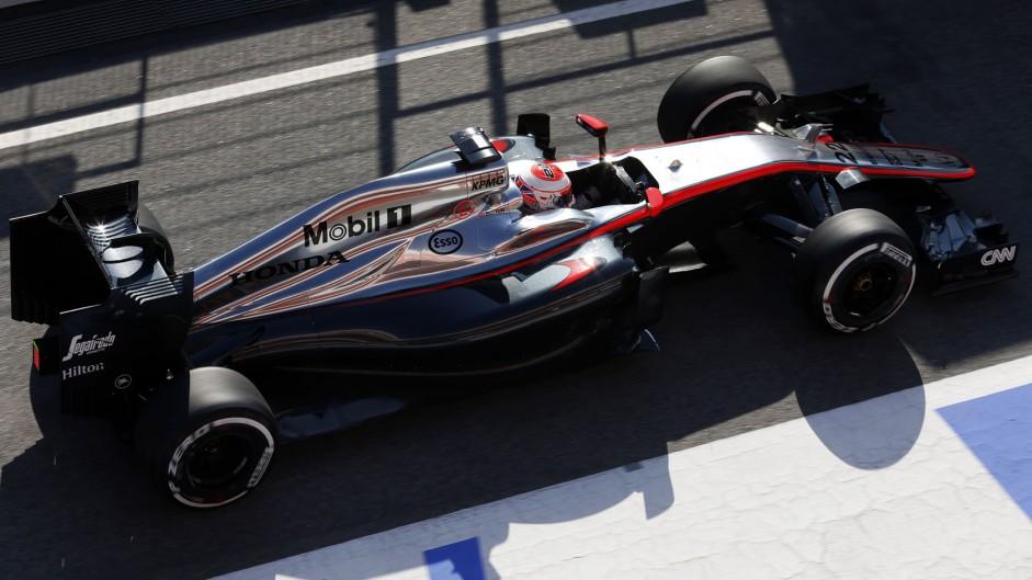 Jenson Button, McLaren, Circuit de Catalunya, 2015