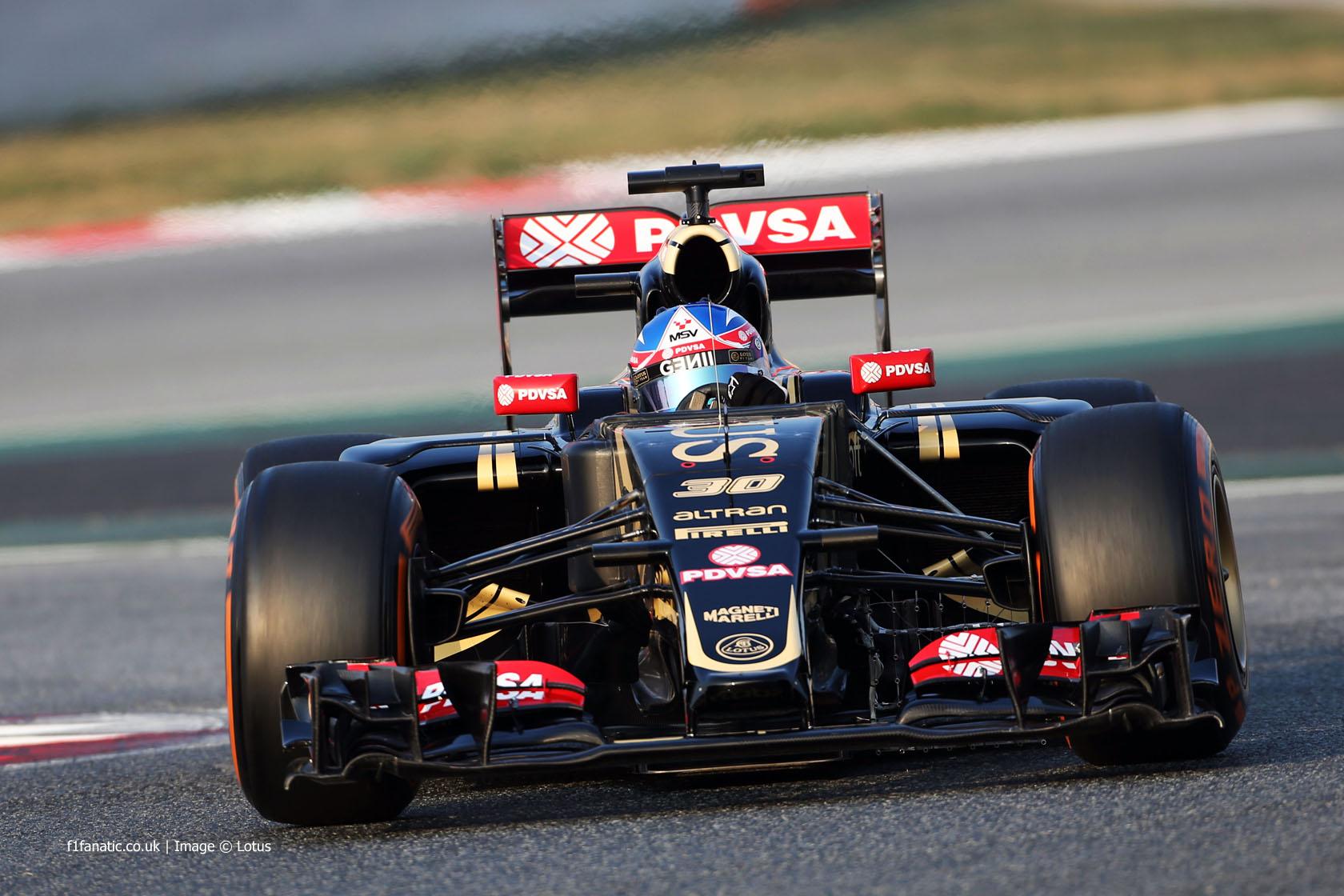 Jolyon Palmer, Lotus, Circuit de Catalunya, 2015