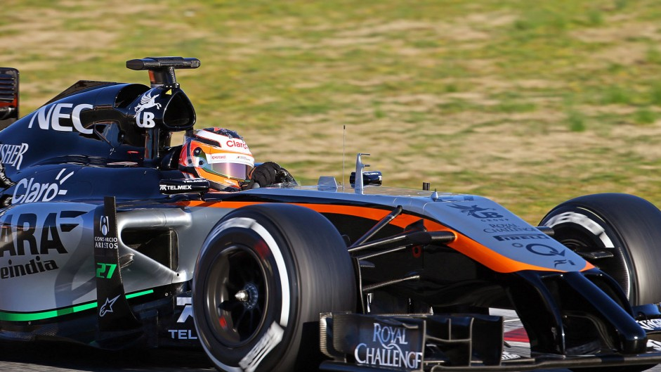 Nico Hulkenberg, Force India, Circuit de Catalunya, 2015