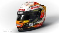 Romain Grosjean, Lotus, 2015 F1 helmet