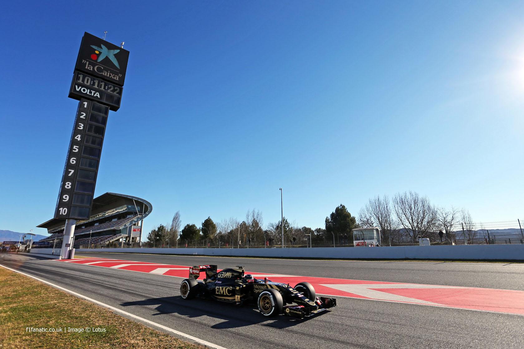 Romain Grosjean, Lotus, Circuit de Catalunya, 2015