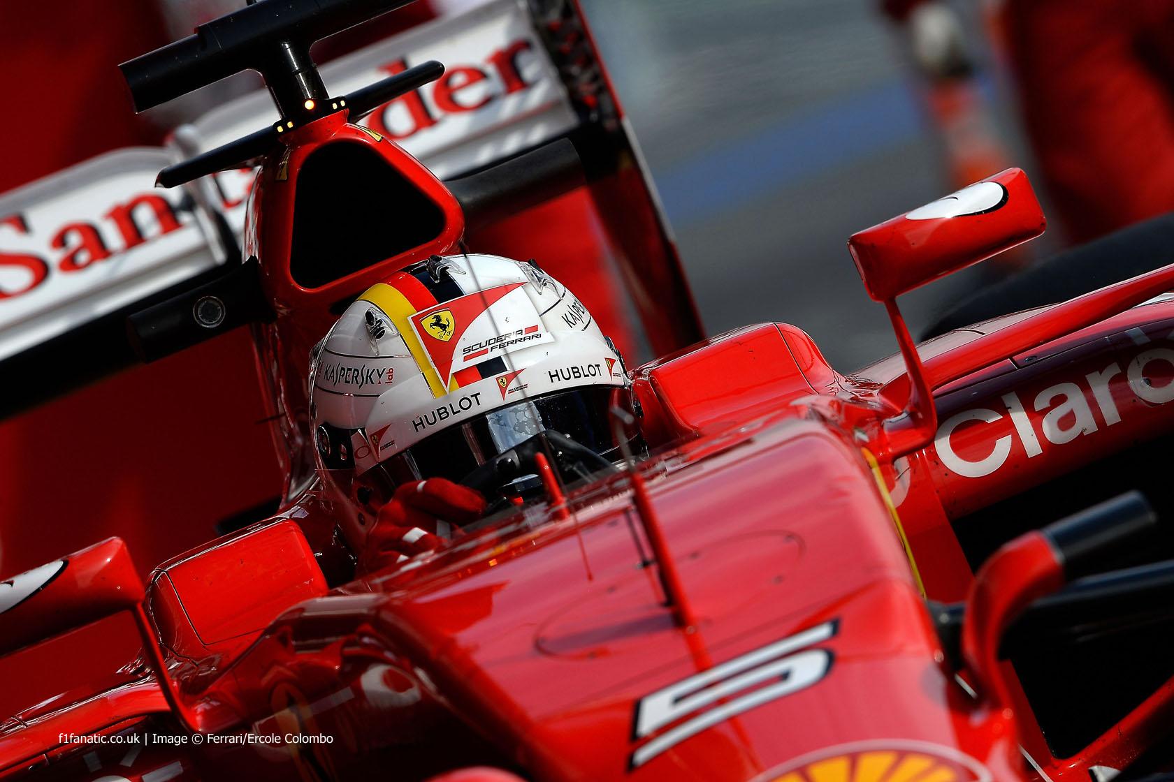Sebastian Vettel, Ferrari, Circuit de Catalunya, 2015