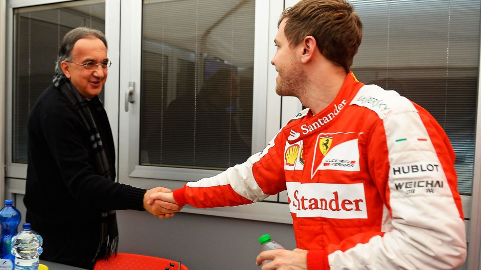Sergio Marchionne, Sebastian Vettel, Ferrari, Circuit de Catalunya, 2015