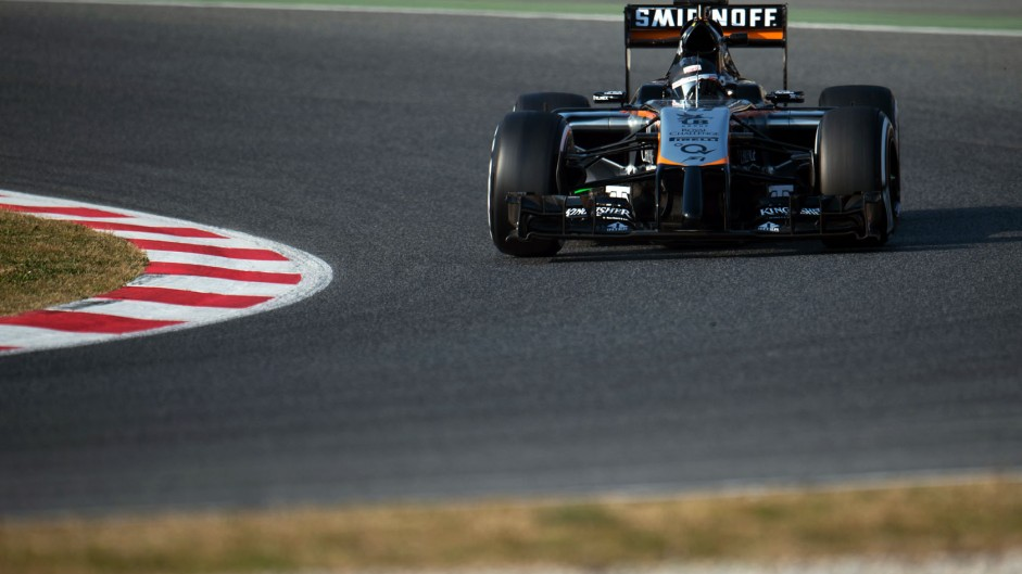 Sergio Perez, Force India, Circuit de Catalunya, 2015