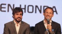Fernando Alonso, Jenson Button, McLaren, 2015